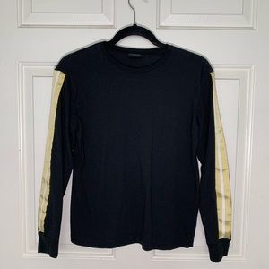 Black Long-Sleeve w/ Gold/White Sleeves